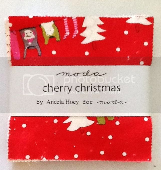 Charm Packs - MODA &quot;Cherry Christmas&quot; by Aneela Hoey PRECUT 5&quot;x5&quot; 42 pieces in each pack