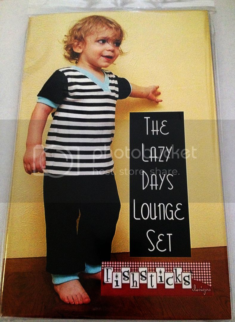 Fishsticks Pattern - THE LAZY DAYS LOUNGE SET in sizes 12 Months - 5T