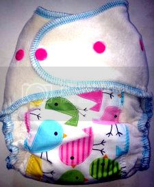 BLOWOUT....Spring Chicks Embellished OBV Regular Size Fitted Diaper- Ships Now