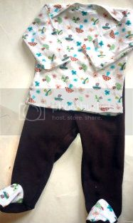 BLOWOUT....Mushroom Fields Footie Set - Size 12M- SHIPS Now