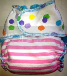 BLOWOUT Spring Polka Dot Knit Cotton Velour OS Fitted Diaper- Ships Now